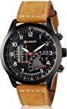 Curren Analogue Black Dial Men's Watch(Cwu8123Br)