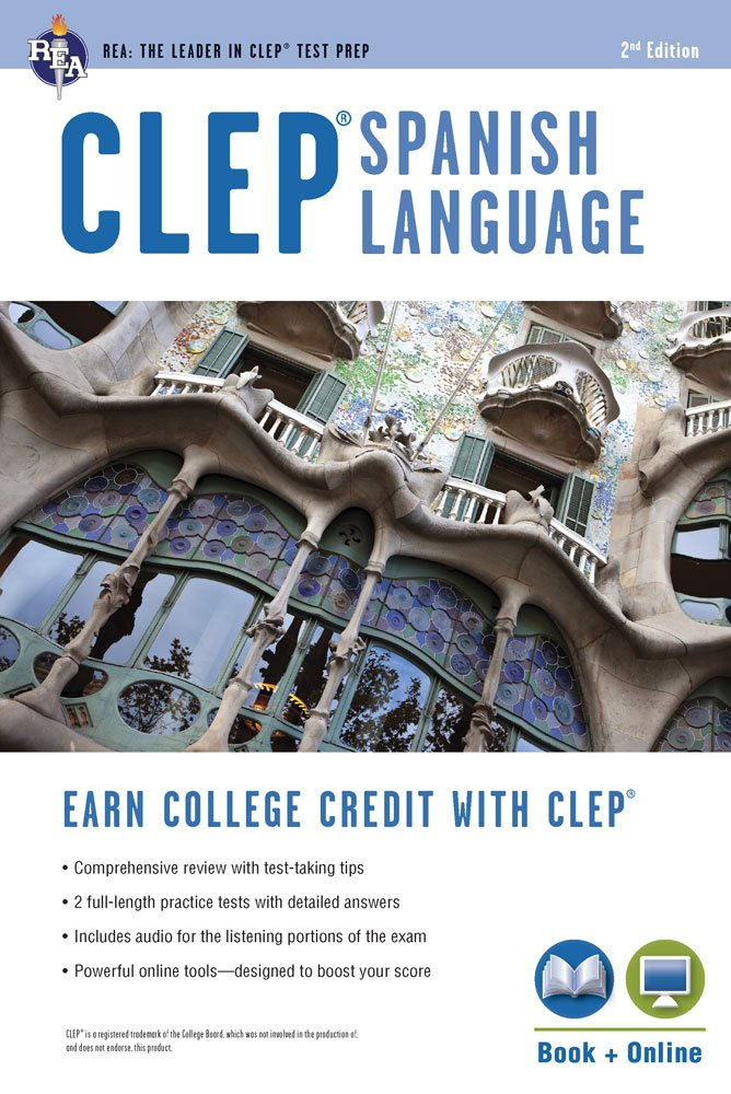 CLEP® Spanish Language Book + Online (CLEP Test Preparation) (English and Spanish Edition) by Research Education Association