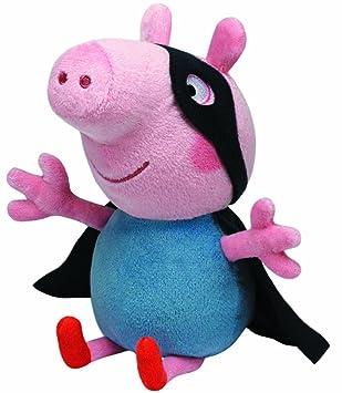 Ty Schorsch Superheld Cerdo juguete Felpa Negro, Azul, Rosa - Juguetes de peluche (