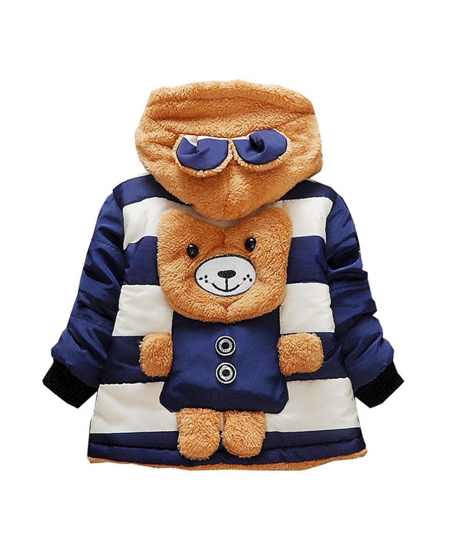 Little Hand Kids Boys Winter Thermal Coat Cute Bear Fleece Hooded Jacket Outerwear Age 6 12 Months 1 2 3 4 5 Year 68803372