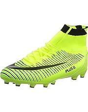 be1928fb WOWEI Zapatos de Fútbol Spike Aire Libre Profesionales Atletismo Training  Botas de Fútbol Adolescentes Adultos Zapatos