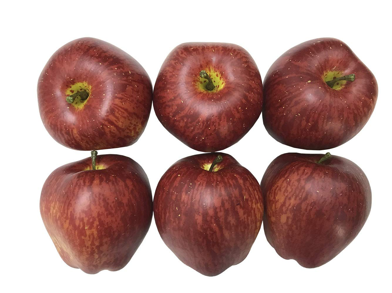 Lifelike Artificial Green Apples Simulation Faux Fake Apple Decorative Fruits Home House Table Display 6 Pack Arflo