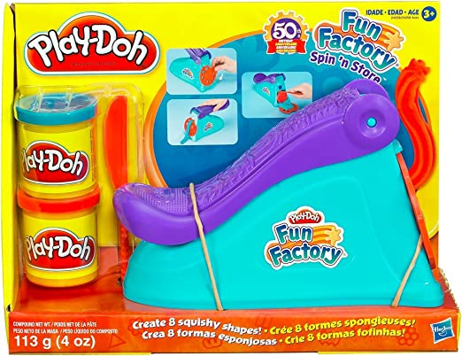 Play-Doh Hasbro Fun Factory Pasta para modelar - Compuestos para cerámica y modelaje (Pasta para modelar, 2 Pieza(s), 2 Colores, 3 año(s), Niño/niña): Amazon.es: Juguetes y juegos