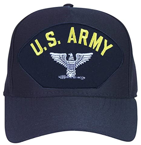 MilitaryBest Army Bird Colonel with Eagle Ball Cap with Custom Back Text d280614691c