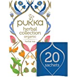 Pukka Herbs Collection, Selection of five Organic Herbal Teas, Elderberry & Echinacea - Lemon, Ginger and Manuka Honey…