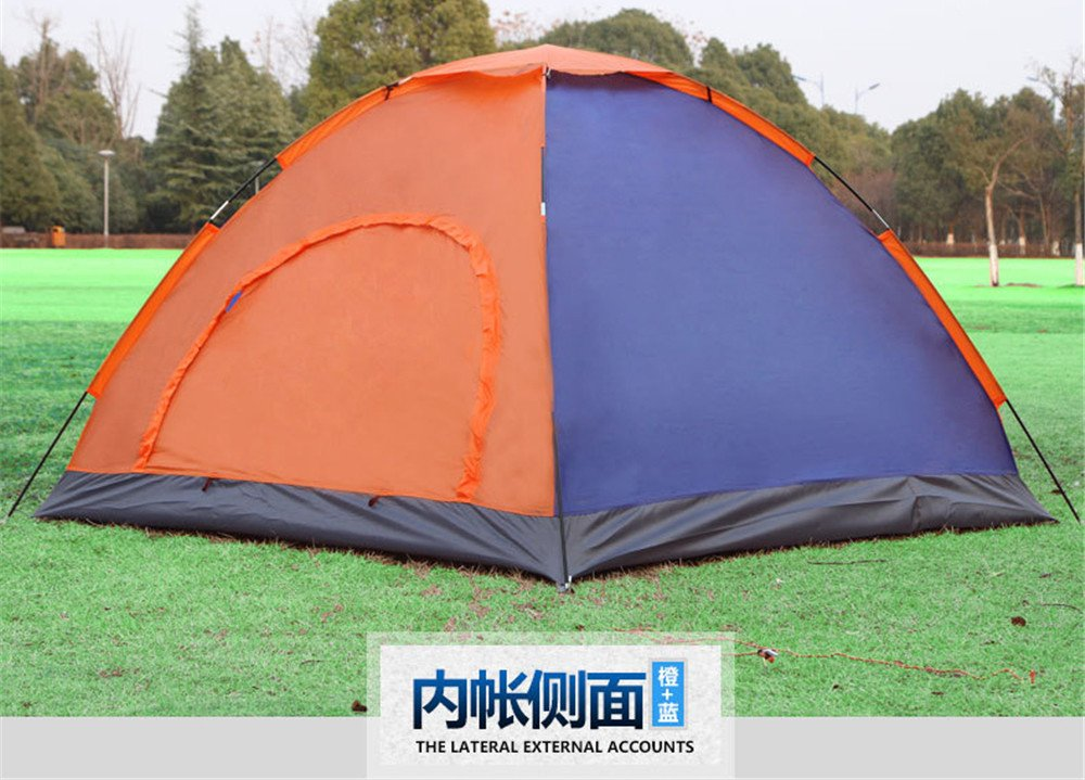HONEYY Glasfaser Stangen Zelte Doppelzimmer Doppelzimmer Doppelzimmer Tür Outdoor Camping Zelt Silber Band Teamarbeit 200  150  110 cm UV