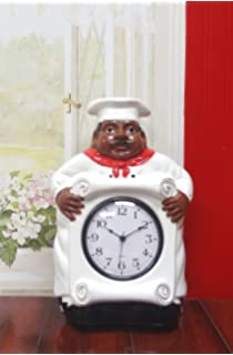 African American Black Happy Bistro Chef Kitchen Wall Clock Chef Decor 89092 By