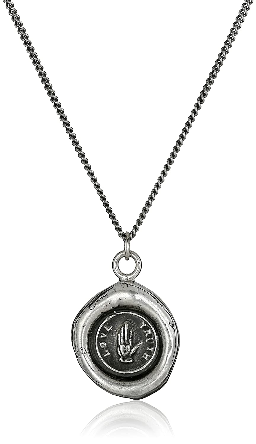 "CDM product Pyrrha""talisman"" Sterling Silver Love Truth Necklace, 18"" small thumbnail image"