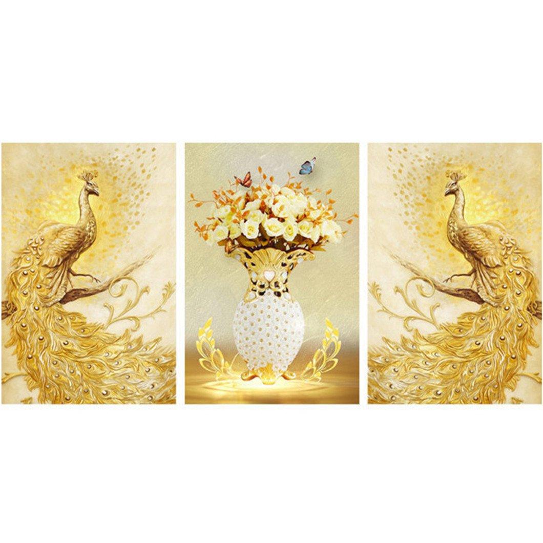 Mazixun Special Shaped Diamond Embroidery Animal Peacock Flower Full 5D DIY Diamond Painting Cross Stitch 3D Diamond Mosaic Decor 60x135cm