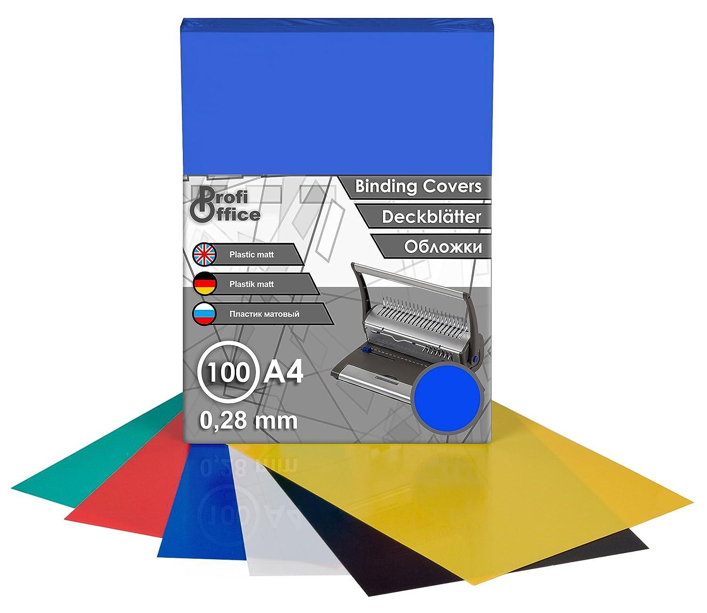 ProfiOffice Deckblätter, DIN A4, matt, schwarz, 0,28mm, 100 Stück(39002) ProfiOffice Deckblätter 100 Stück(39002)
