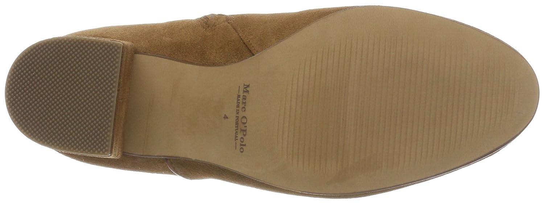 Marc O'Polo Damen Schlupfstiefel Mid Heel Bootie 80114176101300 Schlupfstiefel Damen Braun (Camel) 100581