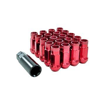 Tuercas de ruedas JDM de acero M12x1,5 de color rojo, para Honda, Toyota, Lexus, Mazda, Mitsubishi: Amazon.es: Coche y moto