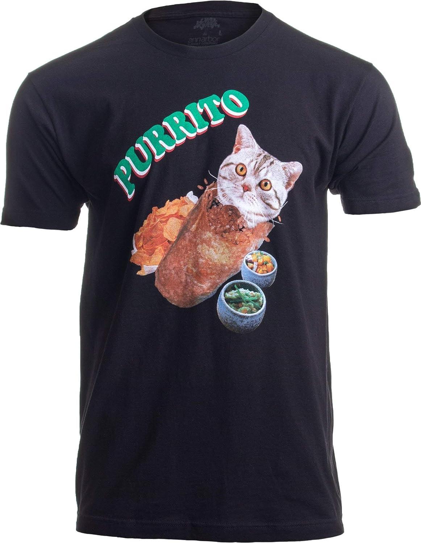 Purrito» (Burrito de Gato) - Diseño Divertido de Humor Mexicano - para los Amantes de los Gatos - Camiseta para Hombre Peque–o Negro - Pequeno - S: Amazon.es: Ropa y accesorios