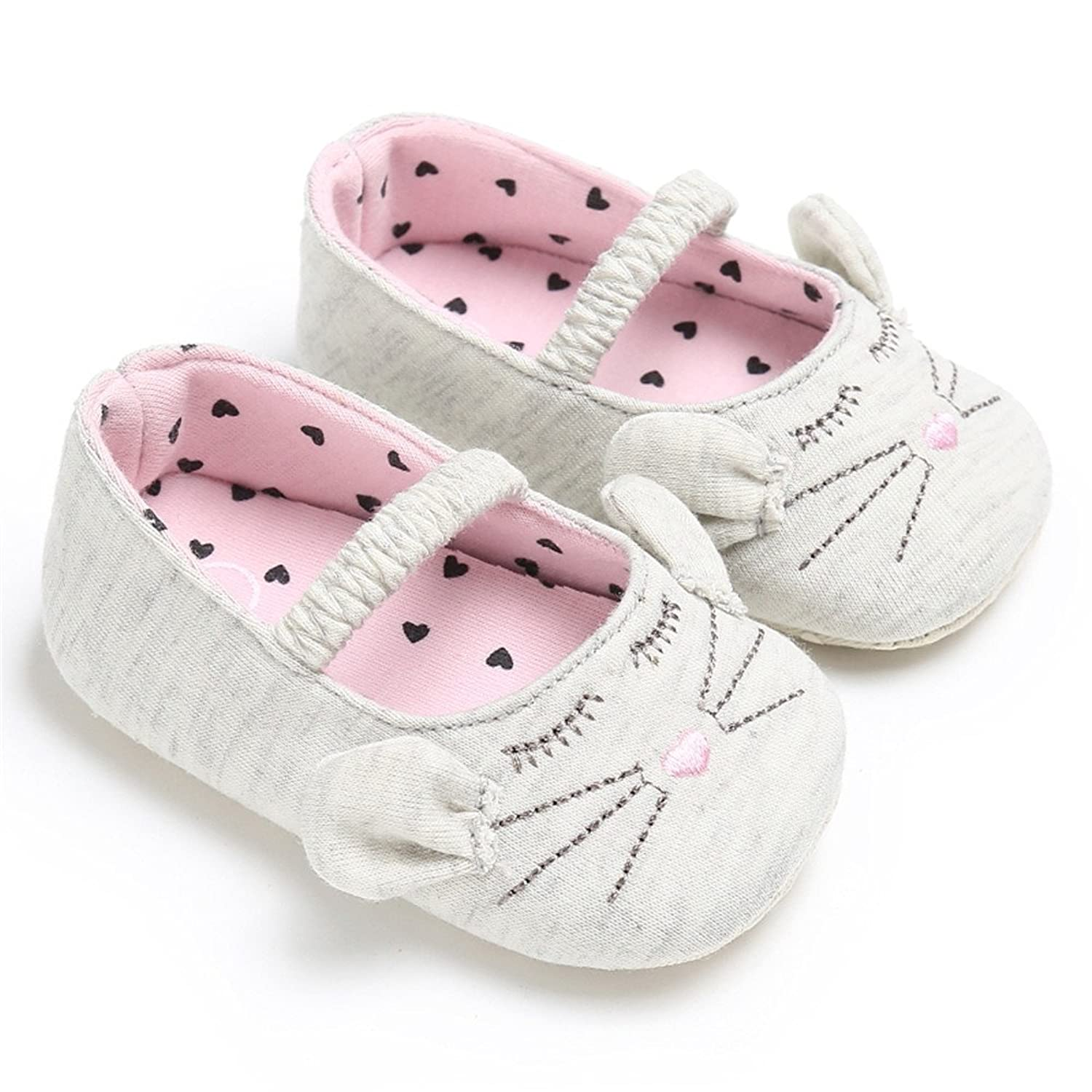 Estamico Baby Girls Soft Sole Shoes Cute Cat Ears Mary Jane Sneakers