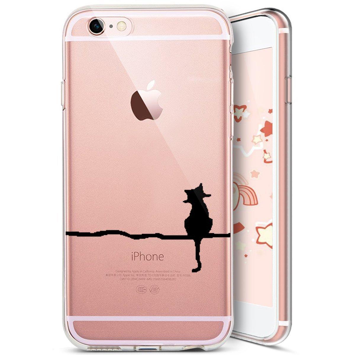 JAWSEU iPhone 7 Plus//8 Plus Custodia Cover Silicone TPU Trasparente Bella Creativo Protettiva Bumper Cristallo Chiaro Luminoso Ultra Sottile Gomma Gel Morbida Flessibile Soft Case