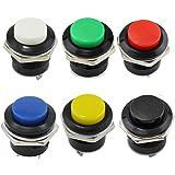 PsmGoods® 6 Momentary Ein / Aus-Taster Horn Schalter für Auto Auto (Colorful)