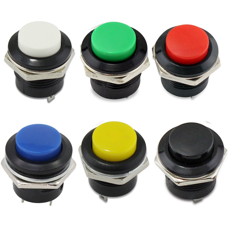 Black PsmGoods/® Momentan/é On Off Push Boutons Horn Commutateur pour Voiture Auto