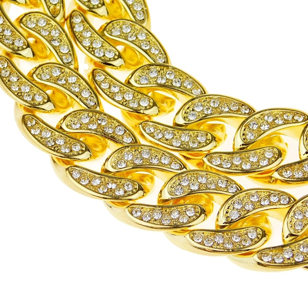 Bling Cartel 18k Gold Plated Mens Cuban Chain 30