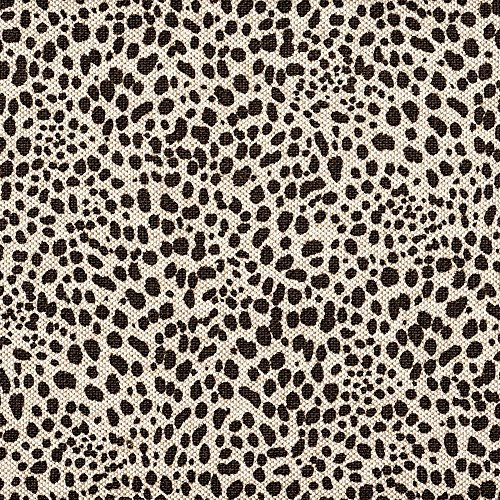 Tailored 18'' Cub Fossil Brown Animal Print Full Bedskirt Cotton by Close to Custom Linens