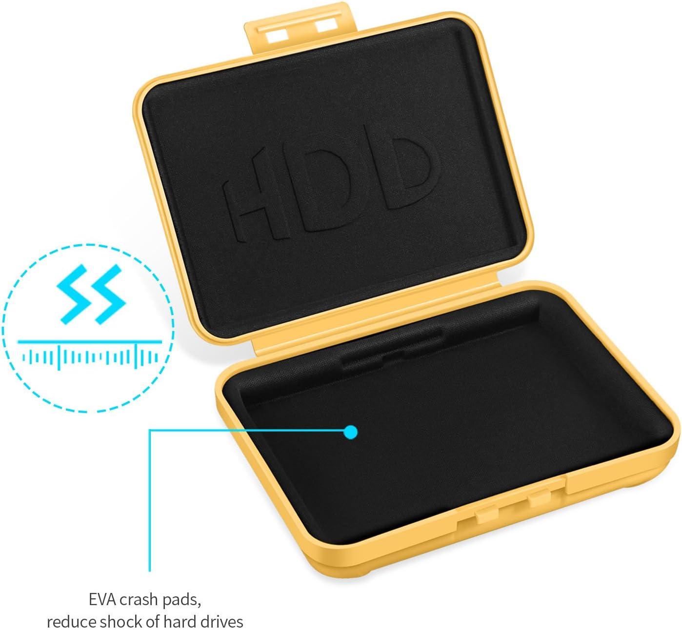 3.5 SISUN/® 3.5 4x 2.5 Inch Anti-Static HDD Protector Case HDD Storage Box Grey//Purple//Yellow//Blue//Green 4x 2.5 Inch Hard Drive protective Case