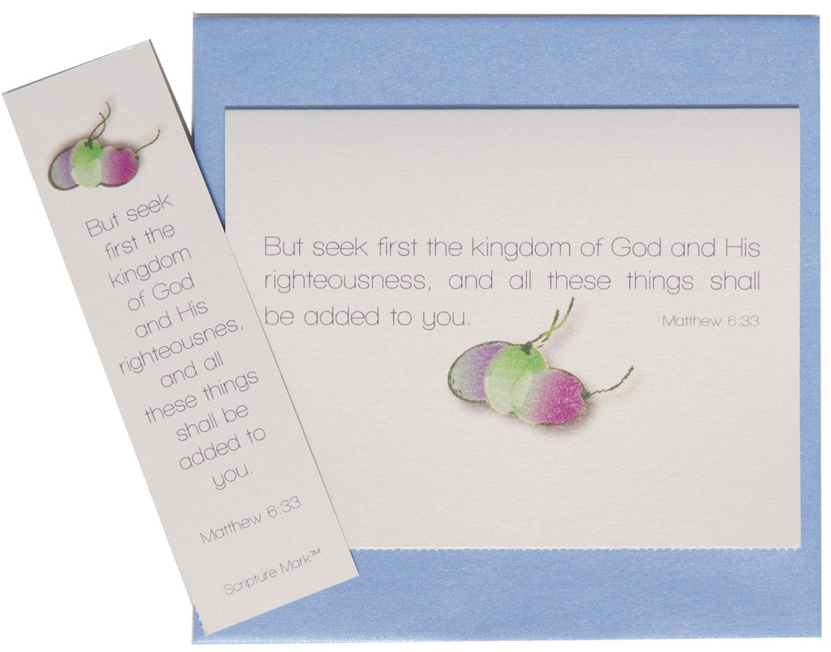 He Speaks Today Seek First The Kingdom Note Card Set