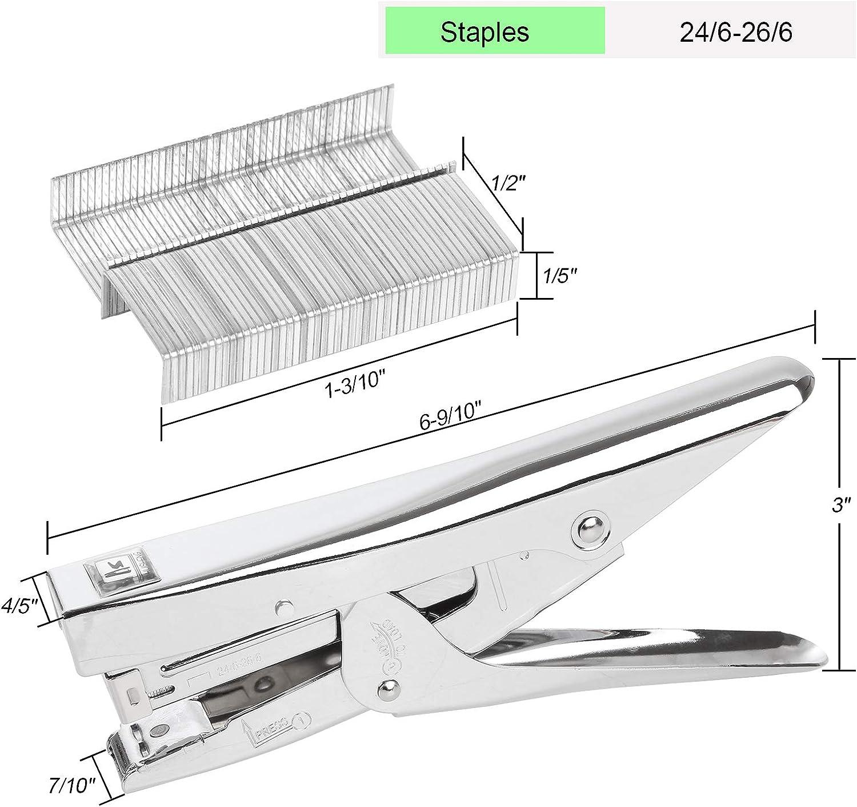 2 Pack Plier Stapler Heavy Duty Office Stapler 20 Sheets Capacity with 4000 Staples