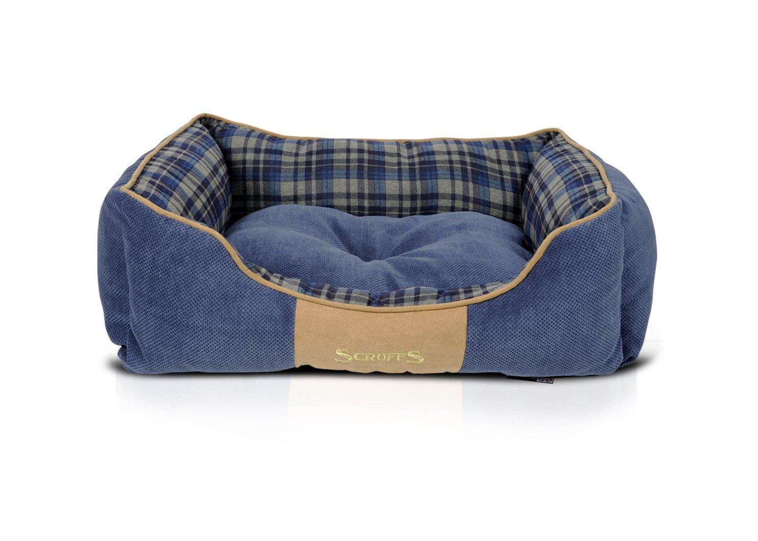 Scruffs Highland Lit pour Chien, Medium, 60x 50cm, Bleu BED/RCD/932053