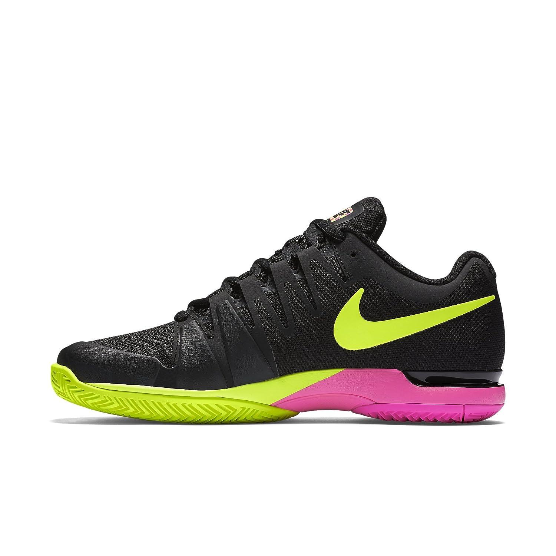 b12d2c5684b3 Nike Mens Zoom Vapor 9.5 Tour Tennis Shoes Black Volt Pink Blast 631458-076  Size 9  Amazon.ca  Clothing   Accessories