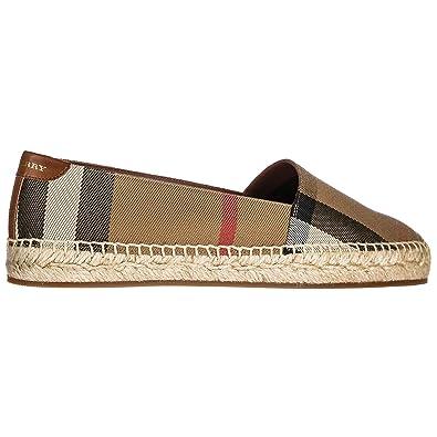 choisir le plus récent images détaillées nouveaux prix plus bas BURBERRY Espadrilles Femme Marron: Amazon.fr: Chaussures et Sacs