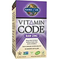 Garden of Life 60 Capsules Vitamin Code Raw Zinc Whole Food Supplement with Vitamin