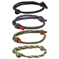 BE STEEL 4 Pcs Geflochtene Nautische Armbänder für Männer Damen Handgemachte Navy Seil String Bettelarmband Einstellbar