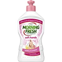Morning Fresh Soft Hand Vanilla and Rose Dishwashing Liquid, Vanilla and Rose 350 milliliters