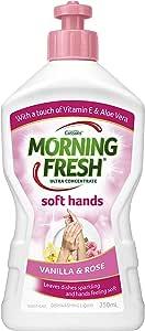 Morning Fresh Soft Hand Vanilla and Rose Dishwashing Liquid, Vanilla and Rose 350 milliliters
