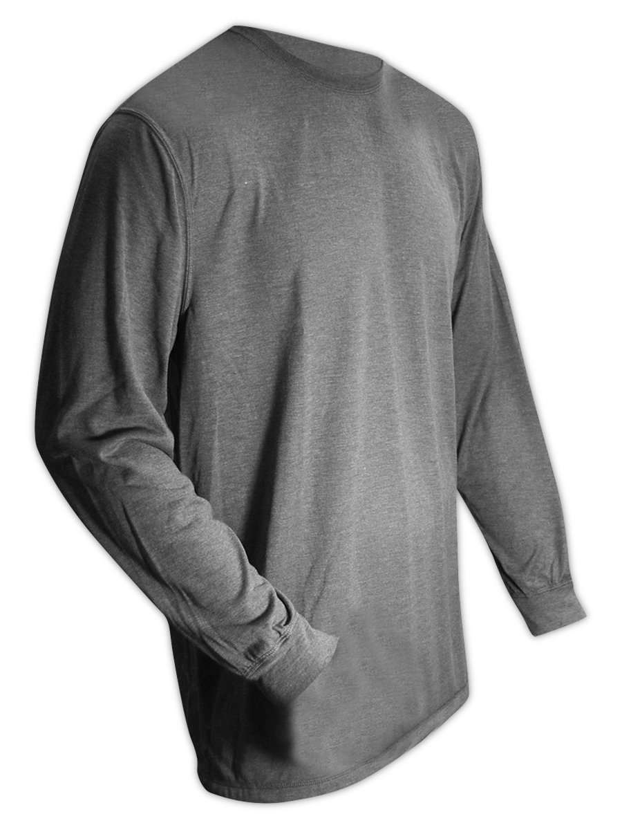 Magid Safety ARS450GYS AR Defense NFPA 70E Compliant Jersey Knit Shirt, Small, Gray