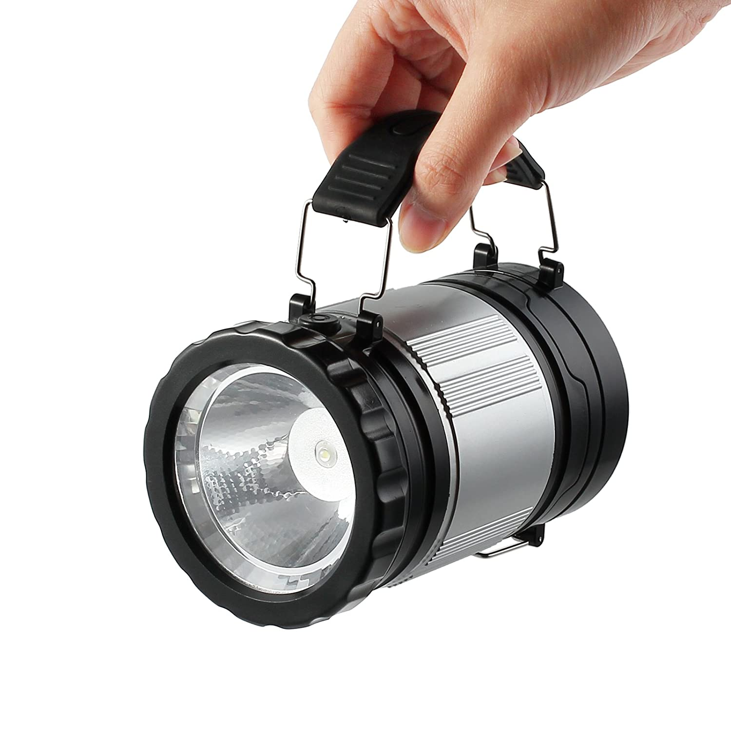 Justech Camping Lights LED Camping Lantern Torch Handheld Flashing 2-in-1 Camp Lamp Portable Ultra Bright for Camping Hiking Fishing Backpacking Outdoor