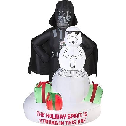 gemmy star wars darth vader stormtrooper christmas airblown inflatable