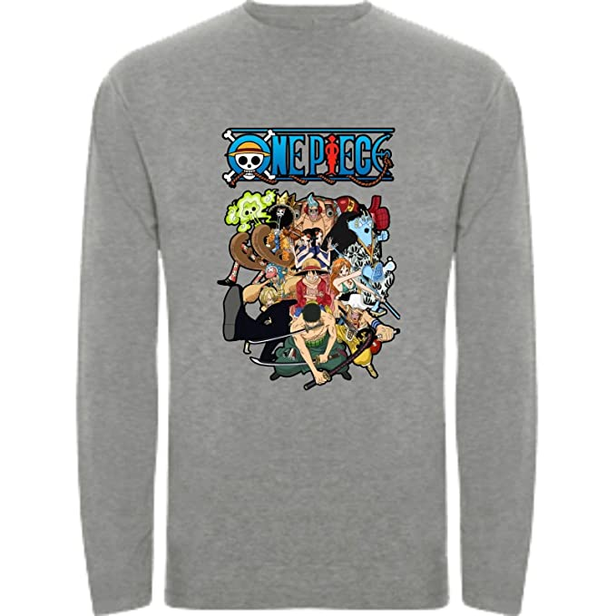 Camiseta Manga Larga de NIÑOS One Piece Anima Manga 5-6 Años
