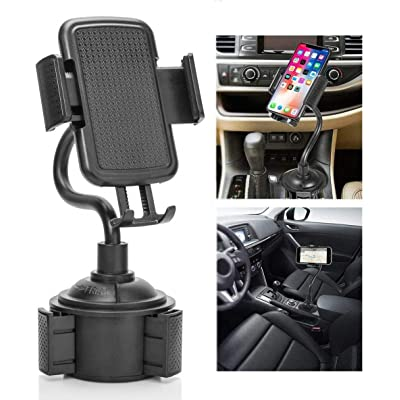 Galaxy Wireless Car Cup Holder Phone Mount with Gooseneck Neck & 360° Rotatable Cradle for Samsung Galaxy Note 10/10 Plus/Note 9/8,S20 Ultra/S20 Plus/S20/S10 Plus/S10/S9 Plus/A10e/A20 Cup Mount