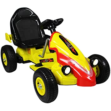 Rip-X Childrens Electric 12V Ride On Car Go Kart - 2 Motors For Double The  Power - (Yellow)
