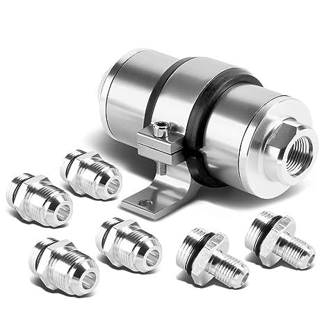 Amazon Com 30 Microns Aluminum Inline Fuel Filterbracket For An6