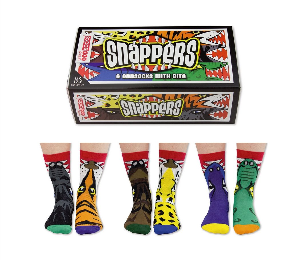 Oddsocks Snappers Juego de 6 calcetines
