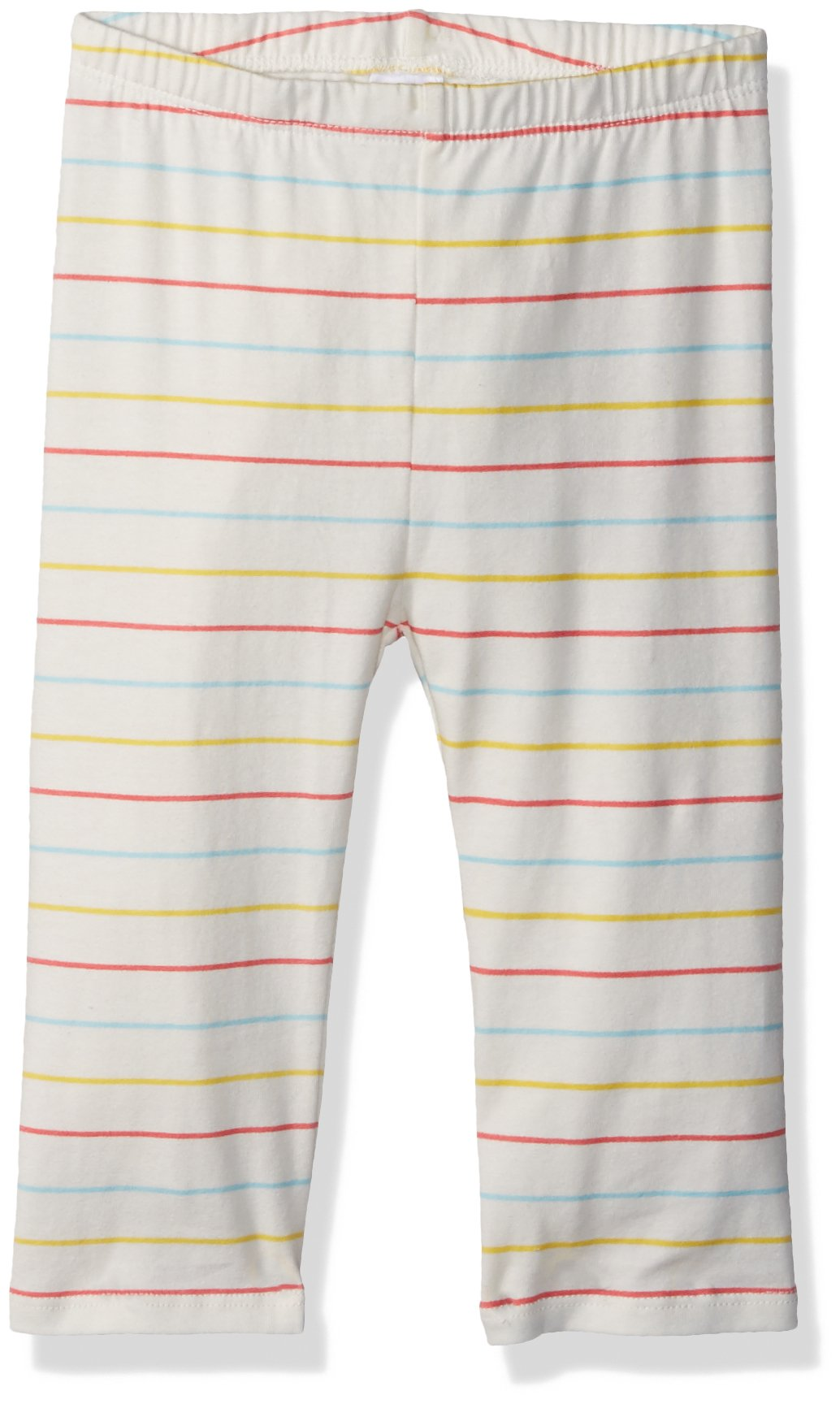 Crazy 8 Toddler Girls' Basic Legging, White/Multi Stripe, 4T