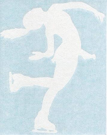 Female Ice Figure Skater Skating Winter Car Window Vinyl Decal Sticker 04155