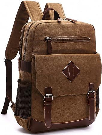 Kenox Mens Large Vintage Canvas Backpack