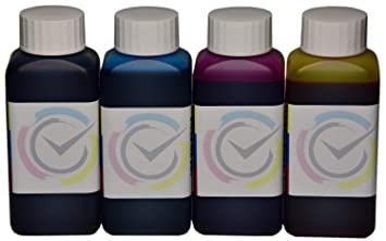 4 botellas de tinta de 100ml compatible cartuchos HP 301XL para impresoras DeskJet 1050 / 2050 / 2050s / 3050 / 3000 J310a / Envy 4502 e-All-in-One / ...