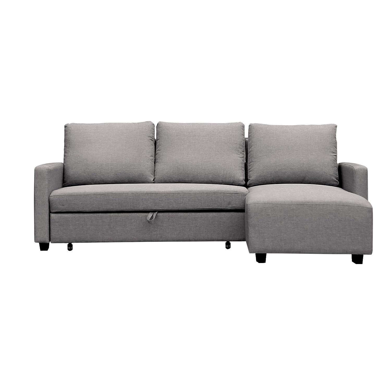 Furniture 247 Sofa in L-Form, Beidseitig verwendbar - Grau