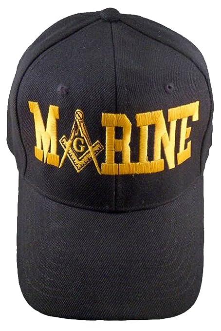1c3b1d86ac1 Buy Caps and Hats MARINES Masonic Baseball Cap Mason Hat Mens One Size  (Black)