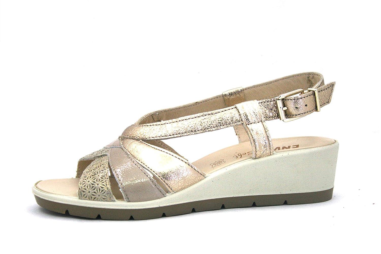 3285344 3285344 3285344 Platino Scarpa Donna Enval Sandalo Pelle Made in  Zeppa Comfort 133e8e
