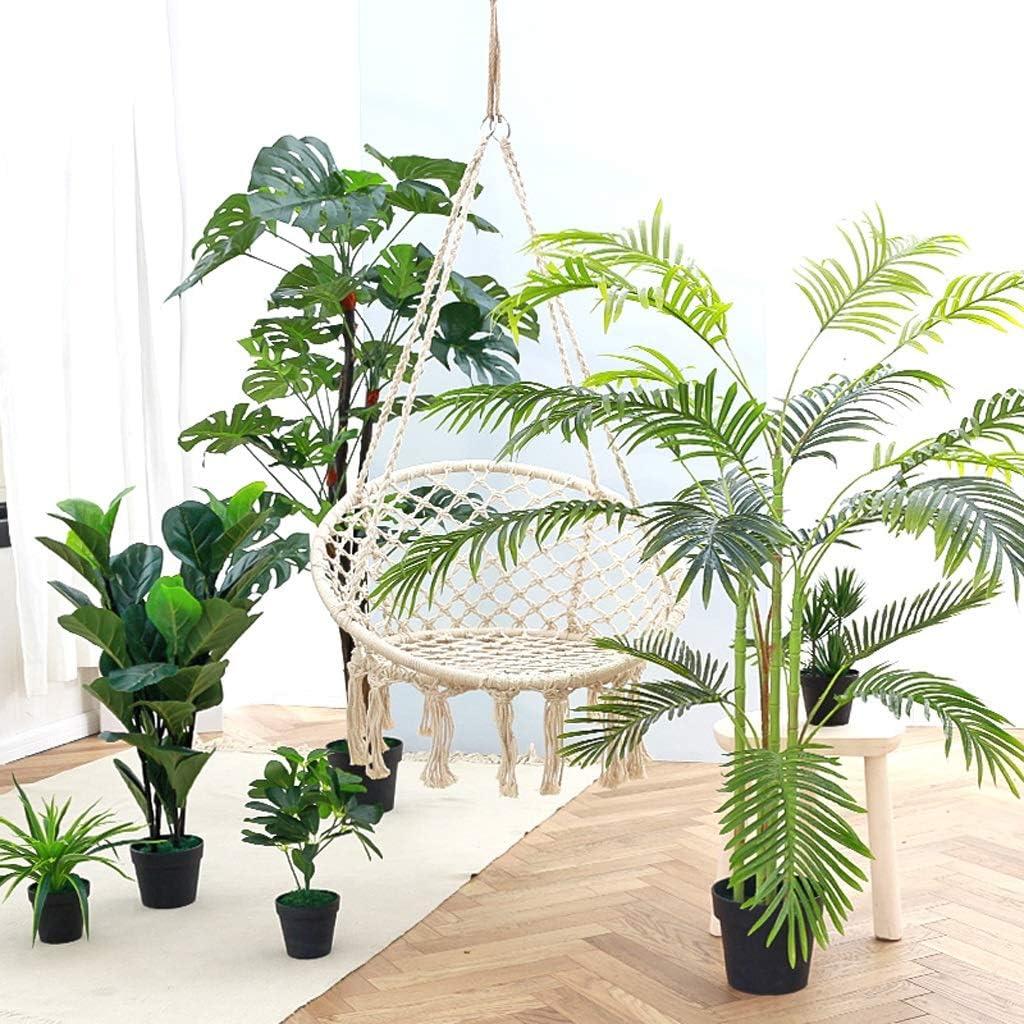 TMY Nordic Grande Albero Artificiale pianta Verde Simulazione Interna pianta Tartaruga Posteriore Foglia Artificiale pianta Decorazione Vaso di Fiori Finti 120 cm
