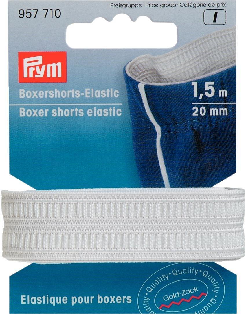 Karte 1,93/€//m Boxershorts-Elastic gewebt 20 mm rohwei/ß 1,5 m